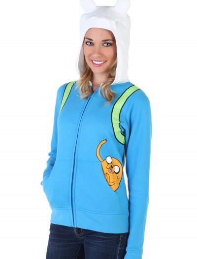 Women's Adventure Time Jake Pocket Hoodie, halloween costume (Women's Adventure Time Jake Pocket Hoodie)