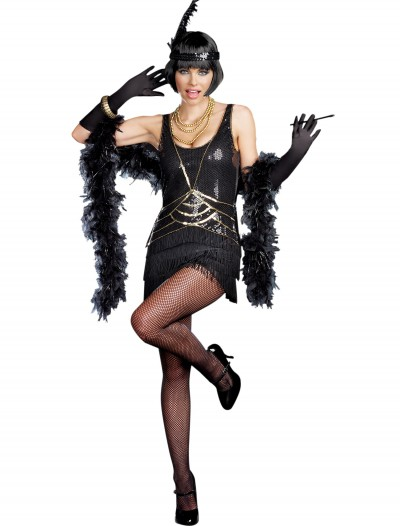 Womens Ain't Misbehavin' Flapper Costume, halloween costume (Womens Ain't Misbehavin' Flapper Costume)