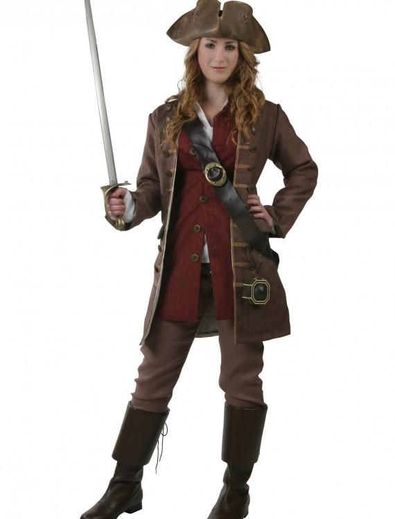 Womens Authentic Caribbean Pirate Costume, halloween costume (Womens Authentic Caribbean Pirate Costume)