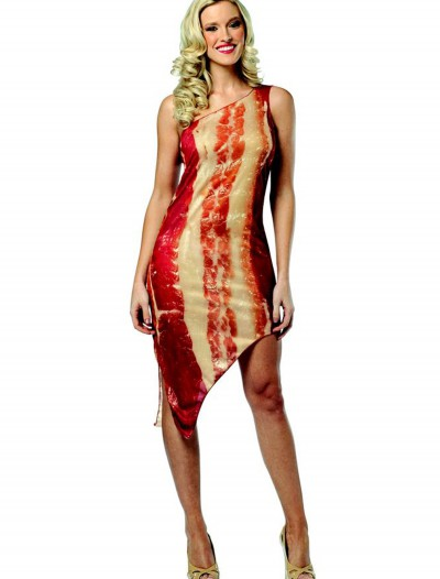 Womens Bacon Dress, halloween costume (Womens Bacon Dress)