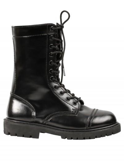 Womens Black Combat Boots, halloween costume (Womens Black Combat Boots)