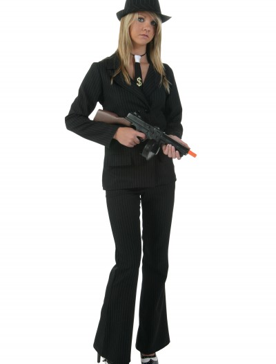 Women's Black Gangster Costume, halloween costume (Women's Black Gangster Costume)