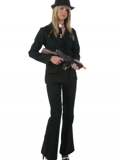 Women's Black Gangster Costume, halloween costume (Women's Black Gangster Costume)