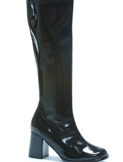 Womens Black Gogo Boots, halloween costume (Womens Black Gogo Boots)