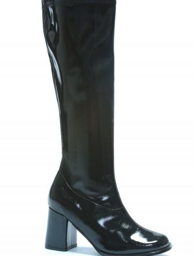 Womens Black Gogo Boots, halloween costume (Womens Black Gogo Boots)