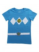 Womens Blue Power Rangers Costume T-Shirt, halloween costume (Womens Blue Power Rangers Costume T-Shirt)