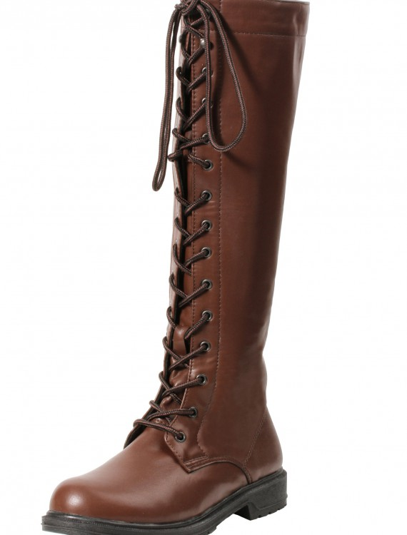 Women's Brown Lace Up Boots, halloween costume (Women's Brown Lace Up Boots)