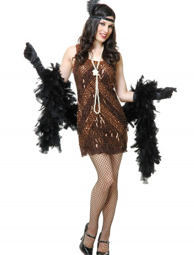 Women's Brown Sugar Flapper Costume, halloween costume (Women's Brown Sugar Flapper Costume)