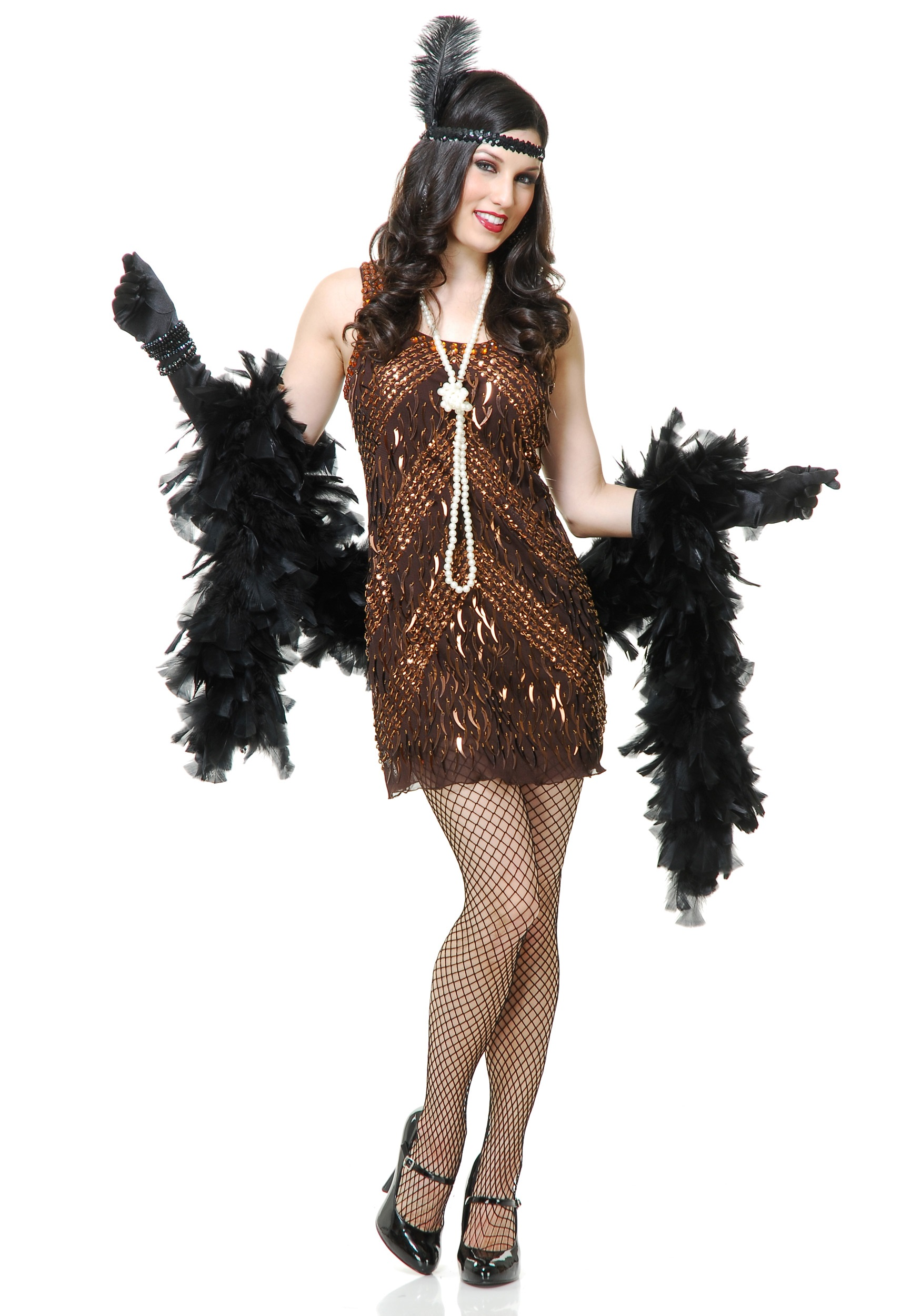 womens brown sugar flapper costume