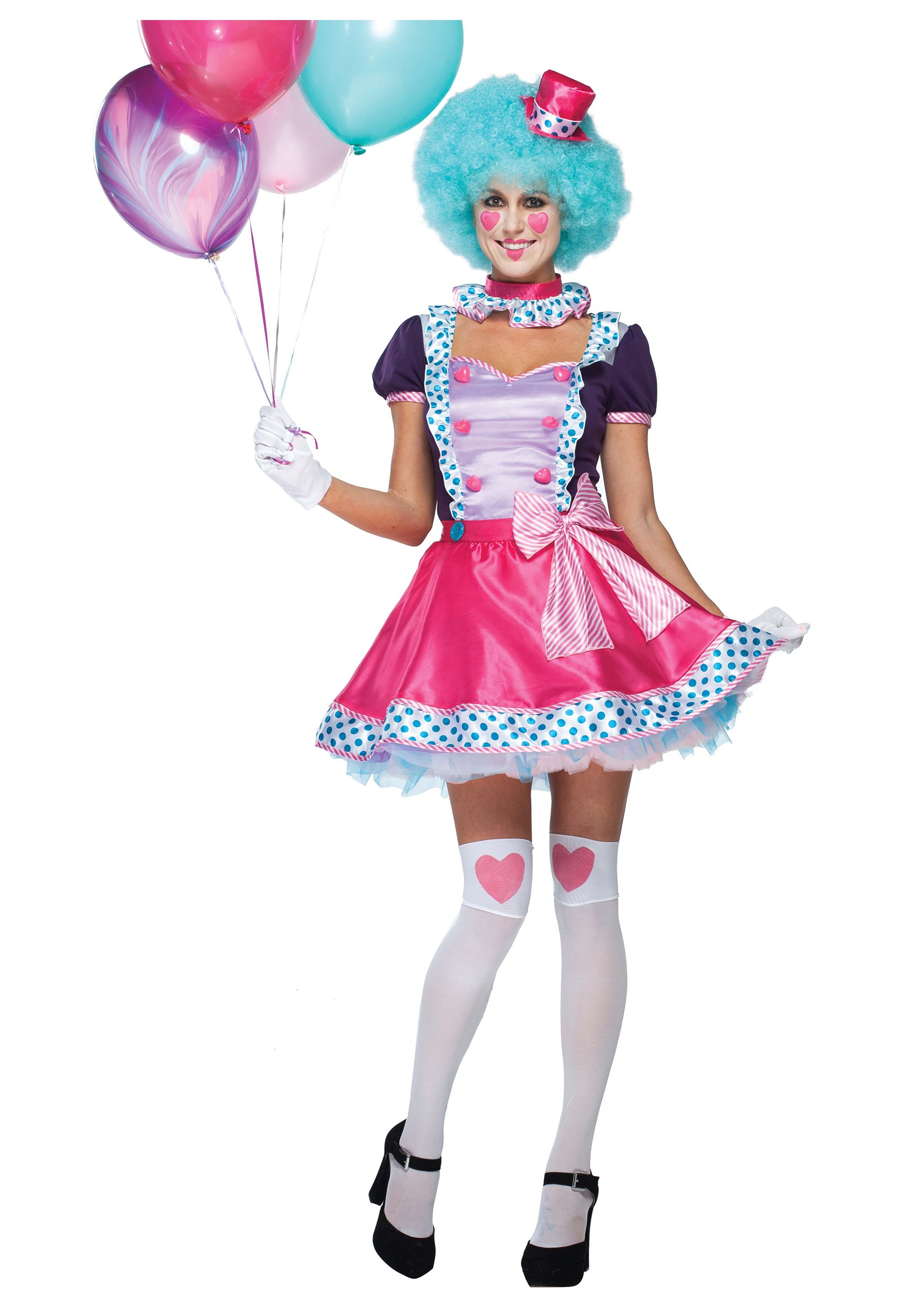 womens bubble gum clown costume - halloween costumes