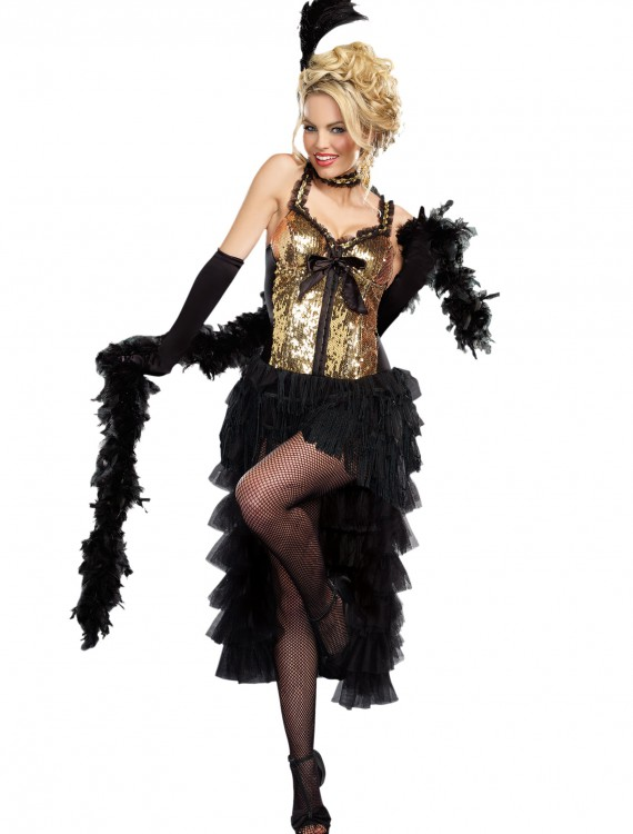 Women's Burlesque Bombshell Costume, halloween costume (Women's Burlesque Bombshell Costume)