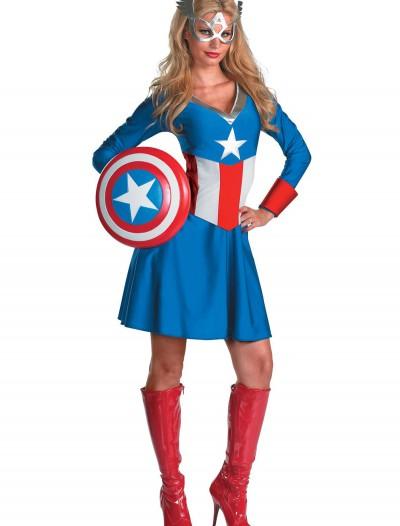 Women's Captain America Costume, halloween costume (Women's Captain America Costume)