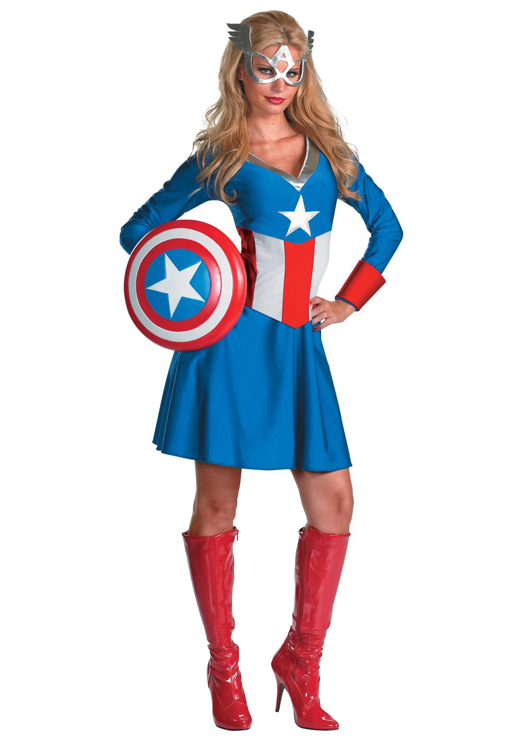 Womenu0027s Captain America Costume  sc 1 st  Halloween Costumes : captain america womens halloween costume  - Germanpascual.Com