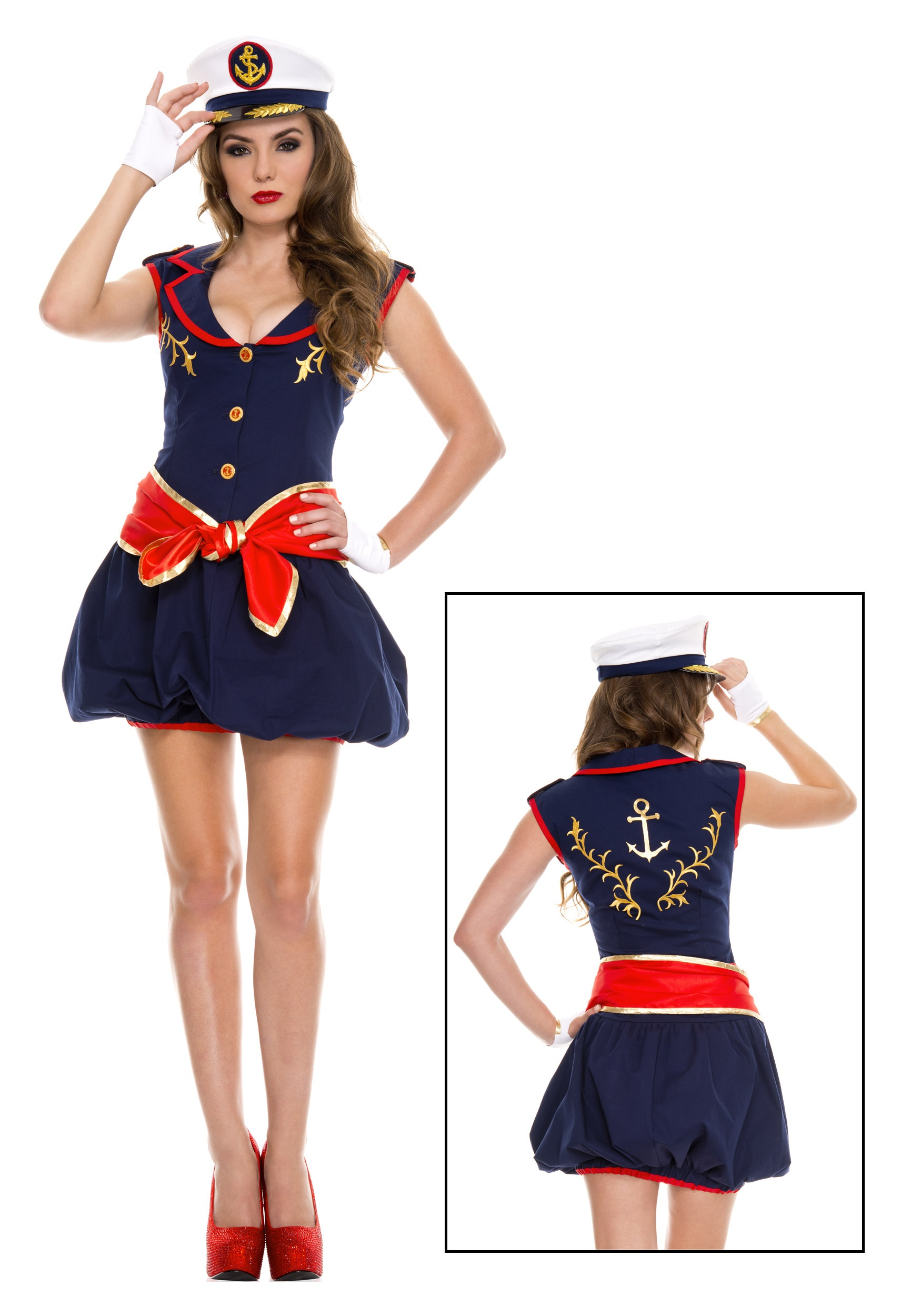 Womenu0027s Captivating Captain Costume  sc 1 st  Halloween Costumes : costums for women  - Germanpascual.Com