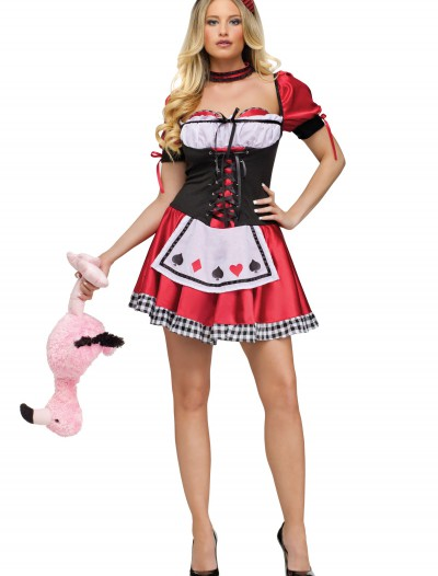 Womens Card Queen of Hearts Costume, halloween costume (Womens Card Queen of Hearts Costume)