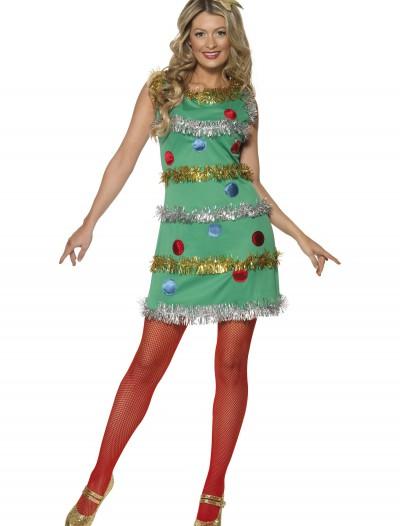 Women's Christmas Tree Dress, halloween costume (Women's Christmas Tree Dress)