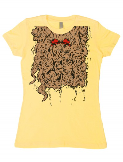 Womens Curly Lion Costume T-Shirt, halloween costume (Womens Curly Lion Costume T-Shirt)