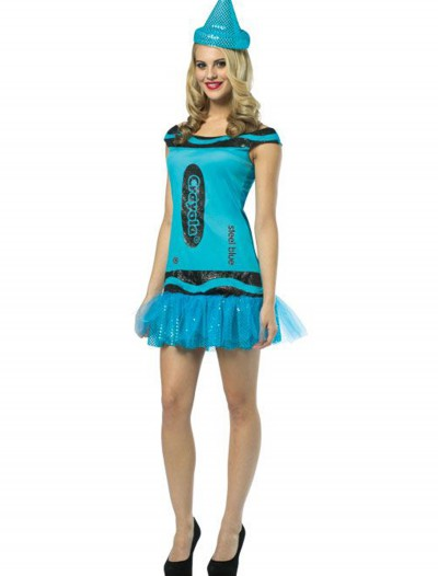 Women's Crayola Glitz Blue Dress, halloween costume (Women's Crayola Glitz Blue Dress)