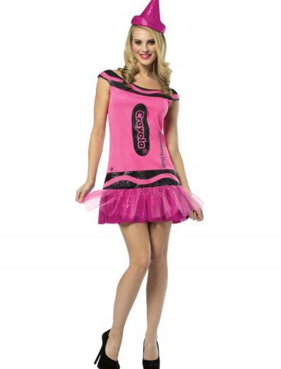 Womens Crayola Glitz Blush Dress, halloween costume (Womens Crayola Glitz Blush Dress)