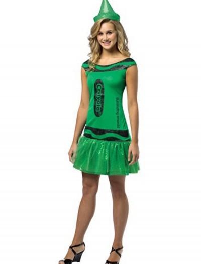 Women's Crayola Glitz Emerald Dress, halloween costume (Women's Crayola Glitz Emerald Dress)