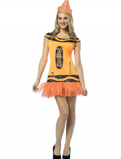 Women's Crayola Glitz Orange Dress, halloween costume (Women's Crayola Glitz Orange Dress)