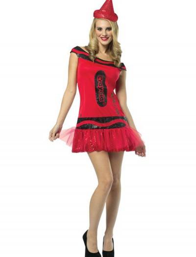 Women's Crayola Glitz Ruby Dress, halloween costume (Women's Crayola Glitz Ruby Dress)