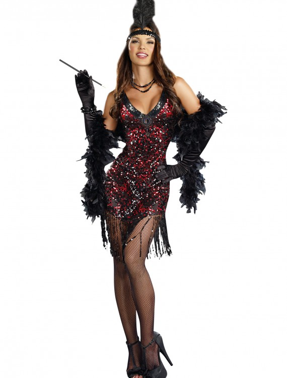 Women's Dames Like Us Flapper Costume, halloween costume (Women's Dames Like Us Flapper Costume)