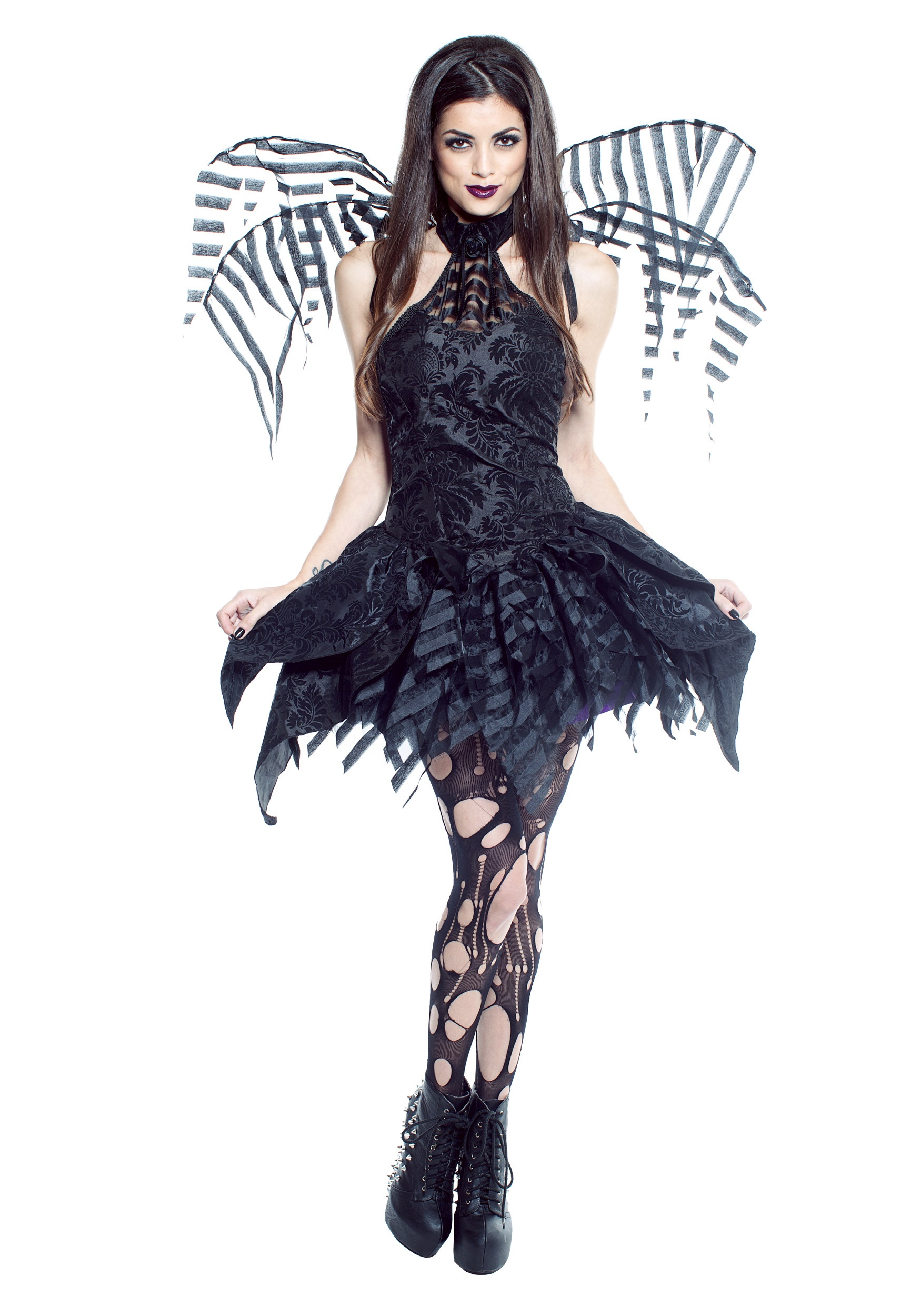 Plus size black fairy dress