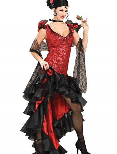 Women's Deluxe Spanish Dancer Costume, halloween costume (Women's Deluxe Spanish Dancer Costume)