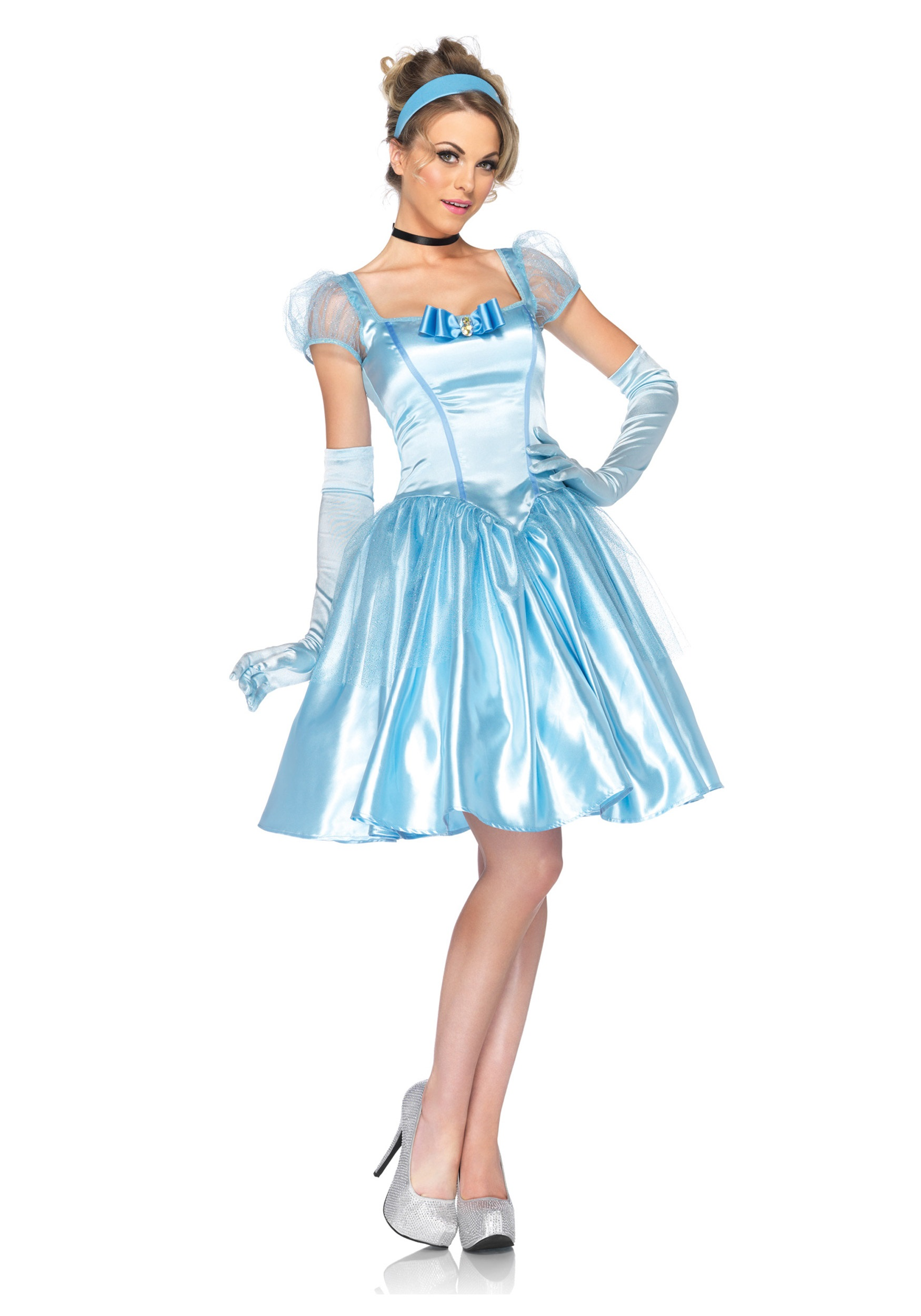 Womens Disney Classic Cinderella Costume  sc 1 st  Halloween Costumes : cinderella costumes for women  - Germanpascual.Com