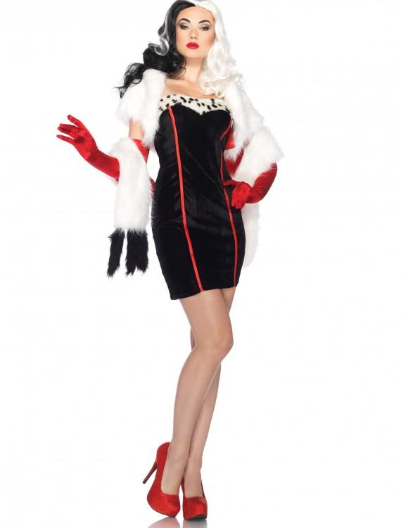 Women's Disney Cruella Costume, halloween costume (Women's Disney Cruella Costume)