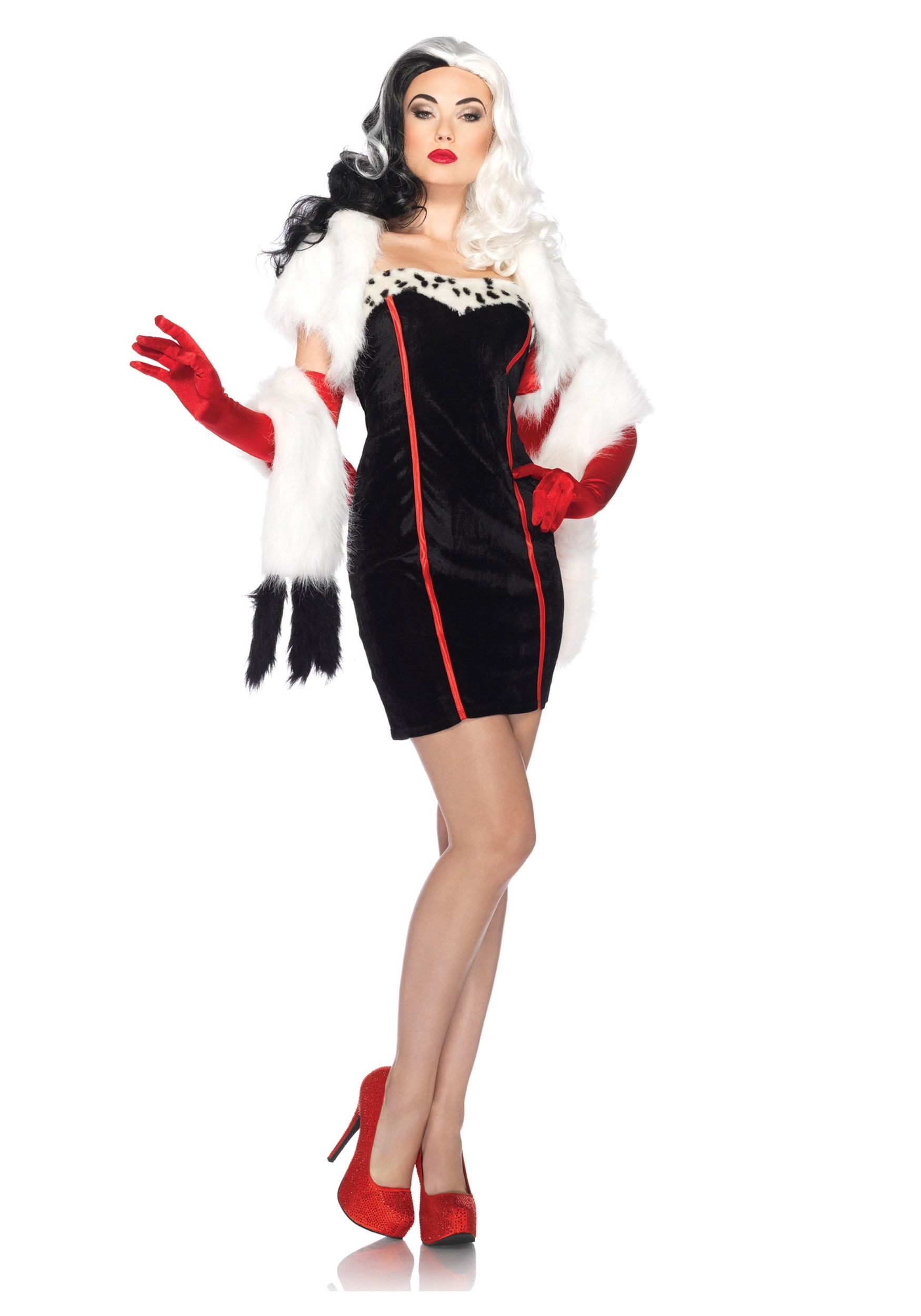 Womenu0027s Disney Cruella Costume  sc 1 st  Halloween Costumes & Womenu0027s Disney Cruella Costume - Halloween Costumes