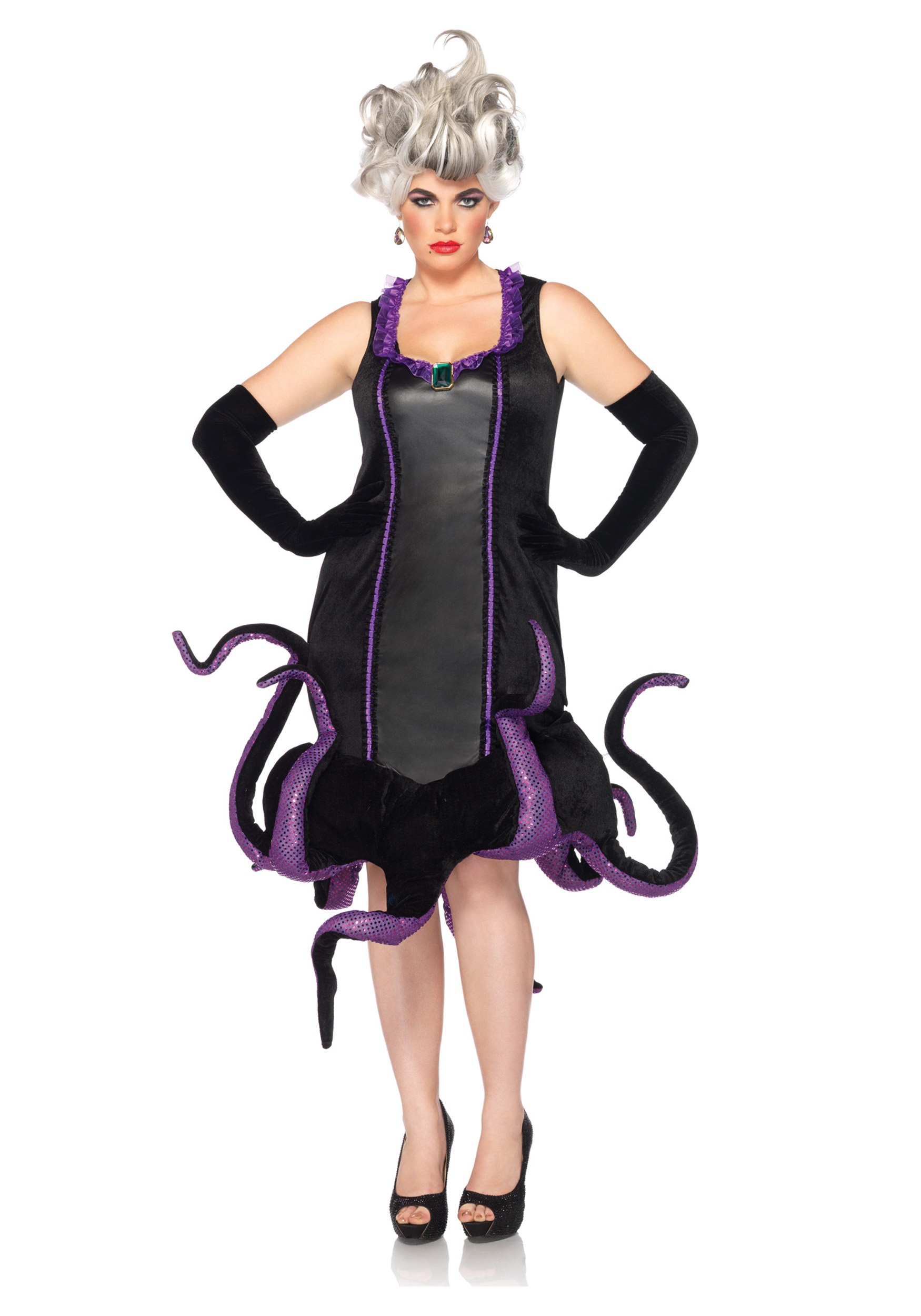 womens disney plus ursula costume - halloween costumes