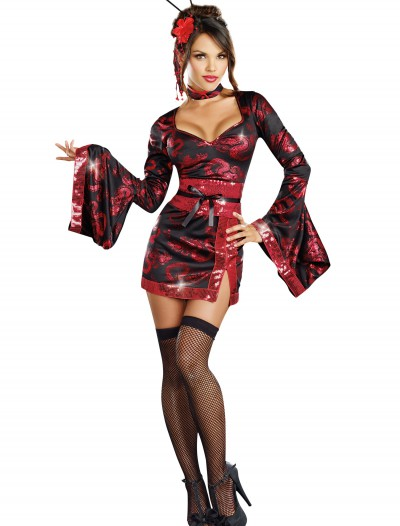 Women's Dragon Tattoo Geisha Costume, halloween costume (Women's Dragon Tattoo Geisha Costume)