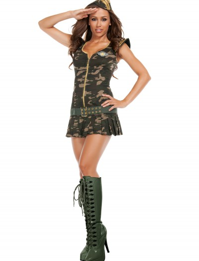 Womens Dreamy Sergeant Costume, halloween costume (Womens Dreamy Sergeant Costume)