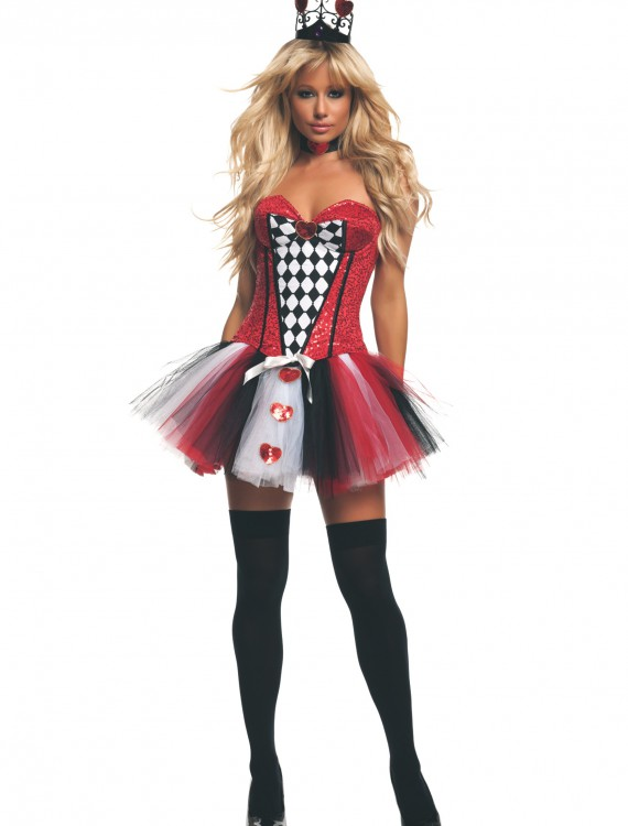 Women's Feisty Queen of Hearts Costume, halloween costume (Women's Feisty Queen of Hearts Costume)