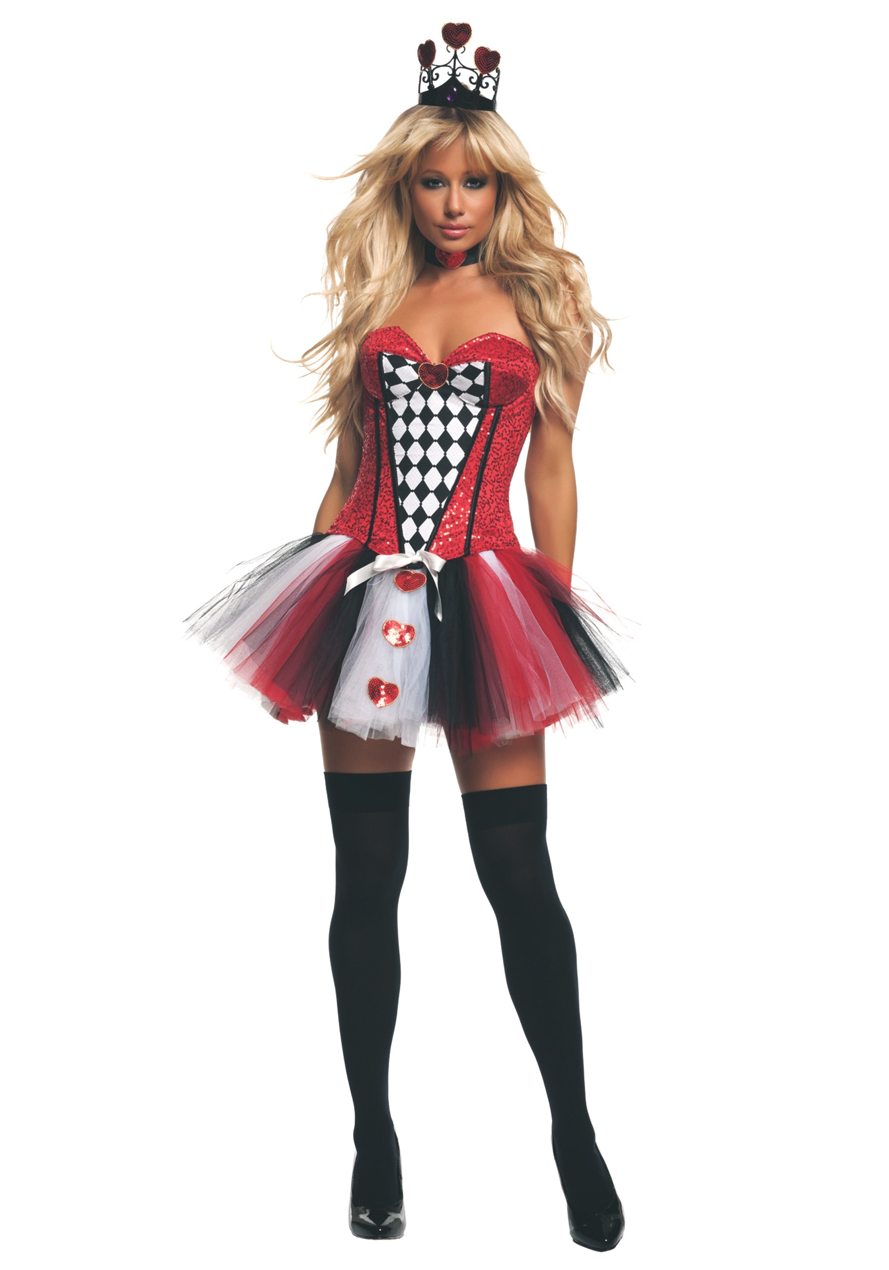 Womenu0027s Feisty Queen of Hearts Costume  sc 1 st  Halloween Costumes & Womenu0027s Feisty Queen of Hearts Costume - Halloween Costumes