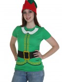 Womens Festive Elf T-Shirt, halloween costume (Womens Festive Elf T-Shirt)
