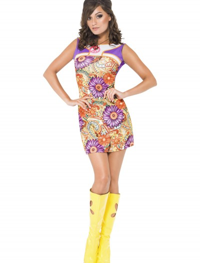 Womens Fever 1960s Peace Love Costume, halloween costume (Womens Fever 1960s Peace Love Costume)