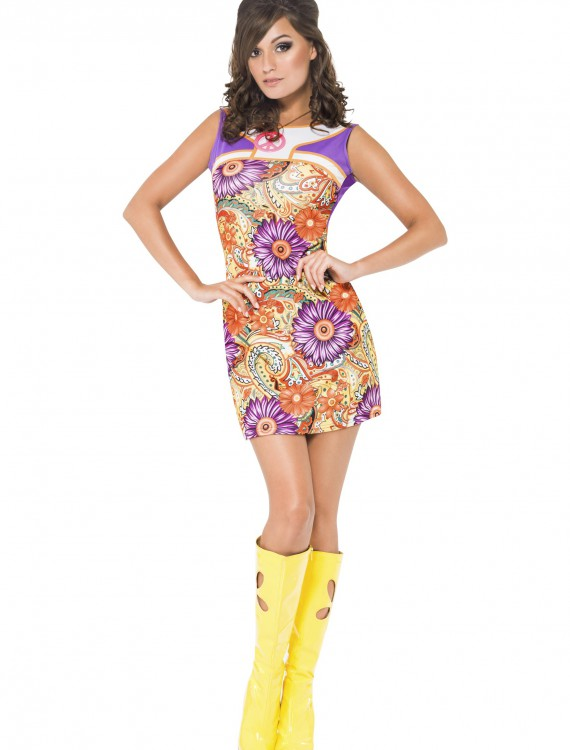 Womens Fever 1960s Peace Love Costume, halloween costume (Womens Fever 1960s Peace Love Costume)