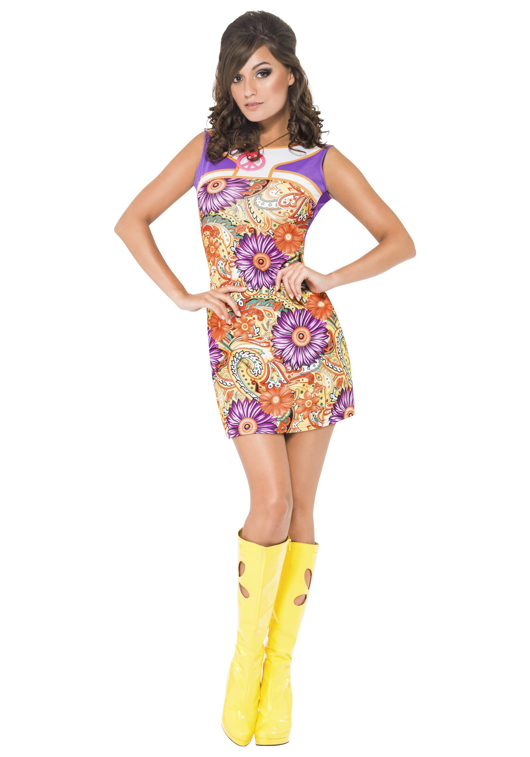 womens fever 1960s peace love costume
