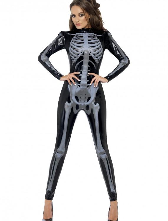 Womens Fever Skeleton Costume, halloween costume (Womens Fever Skeleton Costume)
