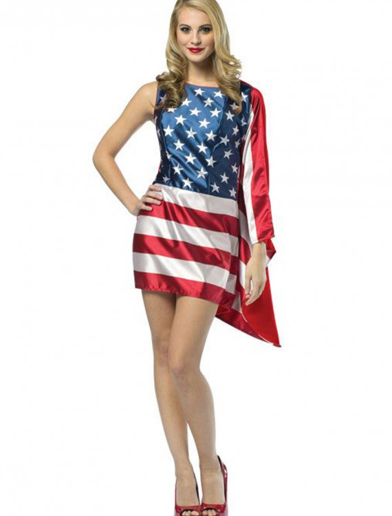 Womens Flag Dress, halloween costume (Womens Flag Dress)
