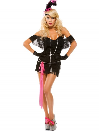 Womens Foxy Fringe Flapper Costume, halloween costume (Womens Foxy Fringe Flapper Costume)