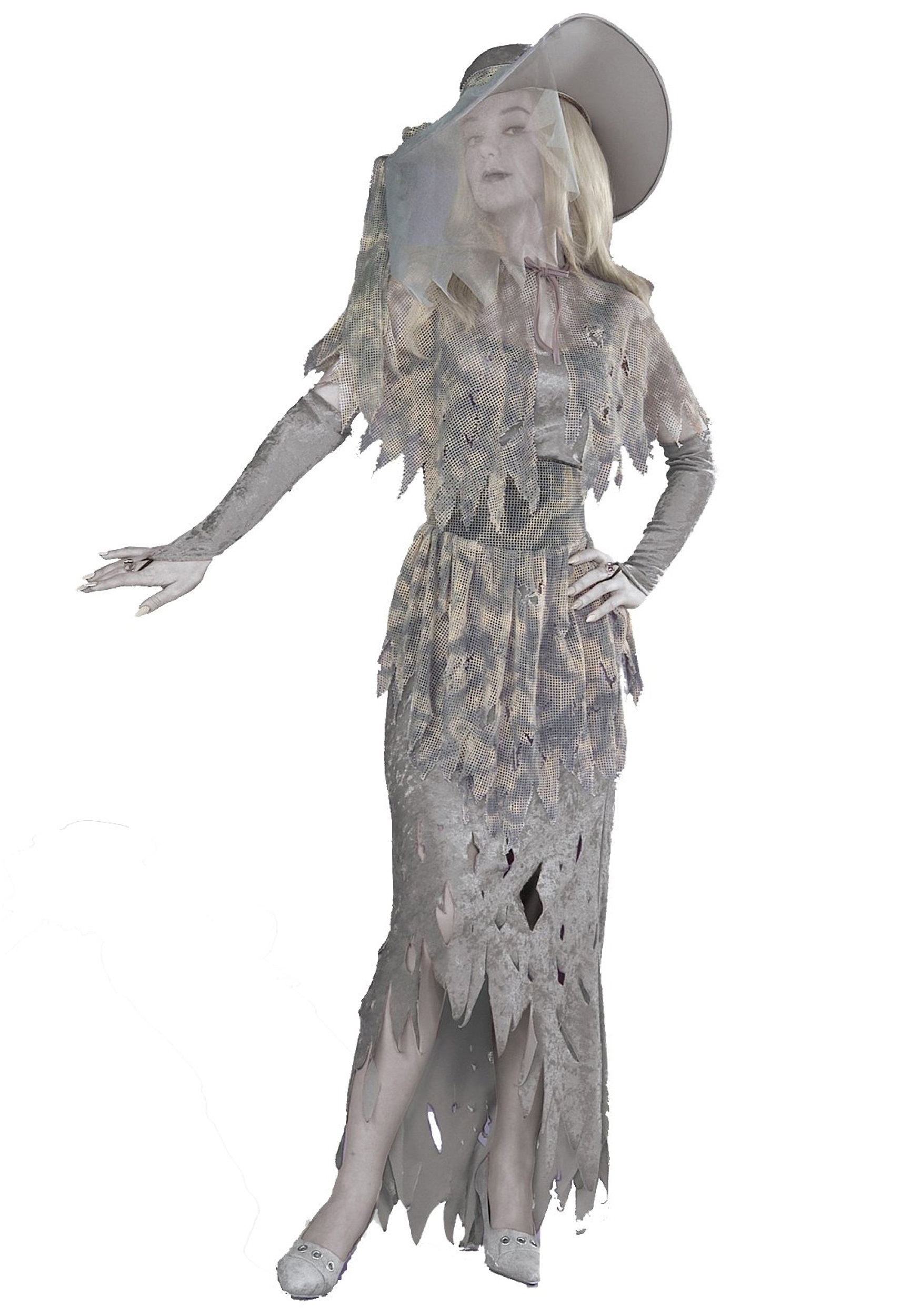 Halloween Costumes Scary Women.Womens Ghost Costume