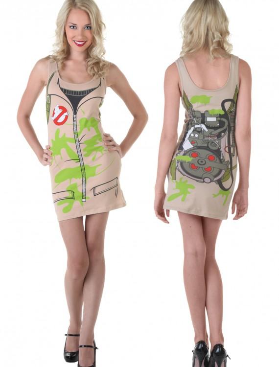 Womens Ghostbuster Tunic Tank, halloween costume (Womens Ghostbuster Tunic Tank)