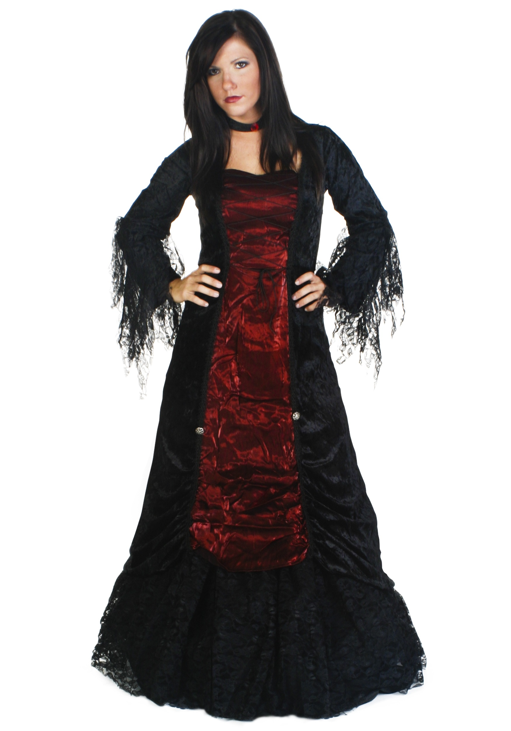 Womenu0027s Gothic V&ire Costume  sc 1 st  Halloween Costumes & Womenu0027s Gothic Vampire Costume - Halloween Costumes