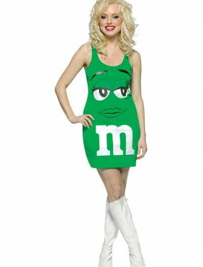 Womens Green M&M Costume, halloween costume (Womens Green M&M Costume)