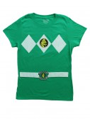 Womens Green Power Ranger Costume T-Shirt, halloween costume (Womens Green Power Ranger Costume T-Shirt)