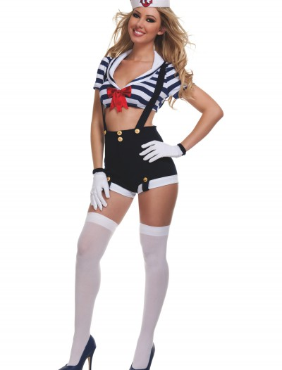 Womens Harbor Hottie Sailor Costume, halloween costume (Womens Harbor Hottie Sailor Costume)